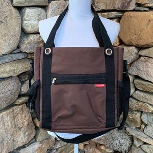 NWOT Skip Hop Brown Versatile Diaper Bag Crossbody